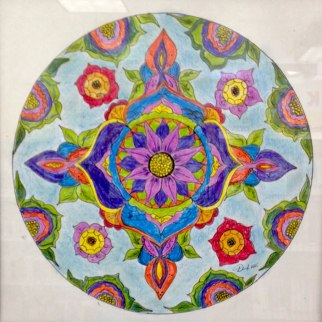 A Peaceful Mandala, Colored Pencil, Danila Van Veen