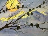 Alice Healy, Eagles, Watercolor