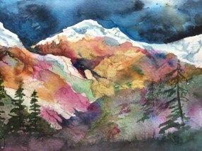 Alice Healy, The Cascades, Watercolor