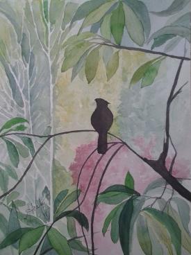 Clarine's View, Alice Healy, Watercolor