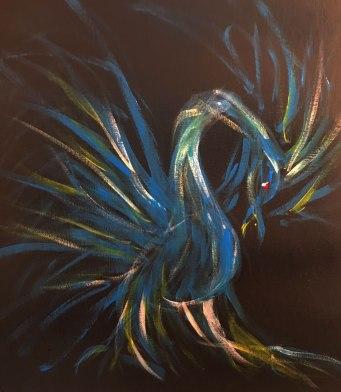 Earl Dyer, Blue Phoenix, Oil
