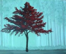Fantasy Forest, Acrylic, Christine Flacco