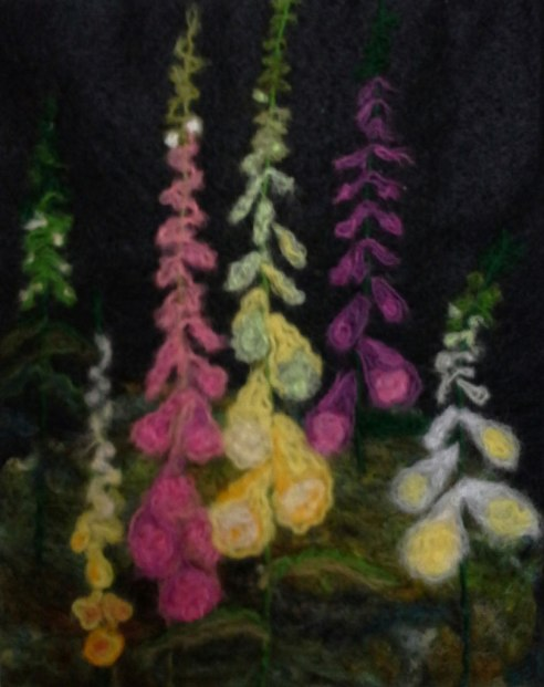 Foxgloves, Felting, Penny Bamford