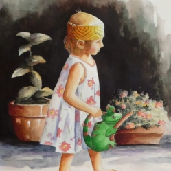 How Does Your Garden Grow, Watercolor, Karen Peter