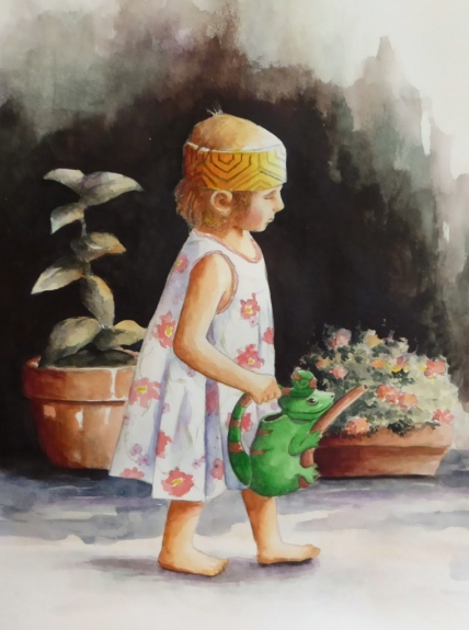 How Does Your Garden Grow, Watercolor, Karen Peter