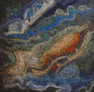 Jupiter Cloud Stream, Felting, Penny Bamford