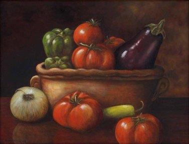 Karen McCormick, Backyard Harvest, Oil