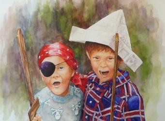 Karen Peter, Argh!, Watercolor