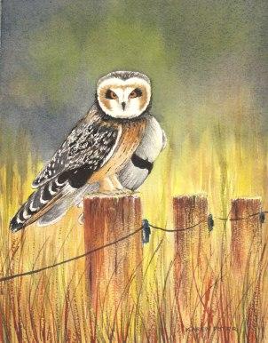 Karen Peter, Post Sitter, Watercolor