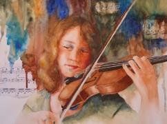 Must Be Mozart, Watercolor, Karen Peter