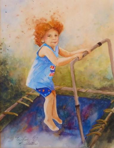 Whee!, Watercolor, Karen Peter