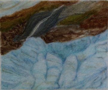 Glacier, Penny Bamford, Felting