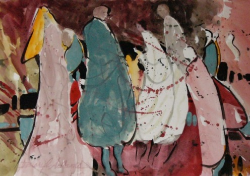 Beryl Adams, The Gathering, Barn exhibit