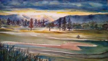 Day Break, Watercolor, Virginia Heaven