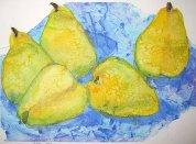Réka Zoltán, Pears, Watercolor
