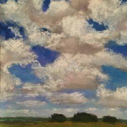 Robbie Drabek, Cloud Study, Pastel