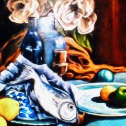 Roz Claffey, A Kitchen Table, Oil