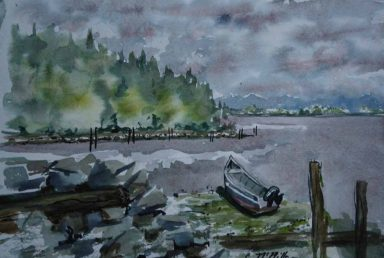 Carol McMIllan, Grandpa's Dory, Watercolor