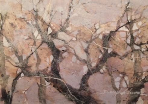 Beryl Adams, Lavender Mist, Mixed Media, Clubhouse exhibit