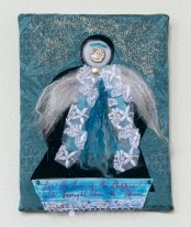 Lee Langdon, Fabric Collage, She Brought Down the Moon