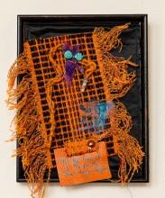 Lee Langdon, Fabric Collage, She Dug Deeper