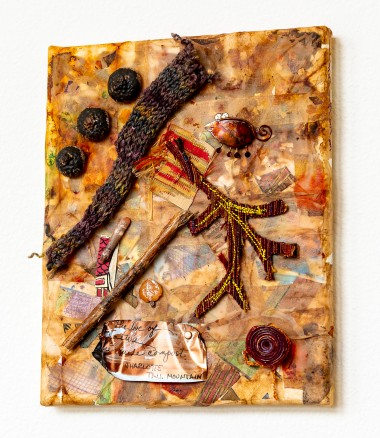 Lee Langdon, Fabric Collage, She Made Compost