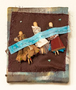 Lee Langdon, Fabric Collage, She Reconciled