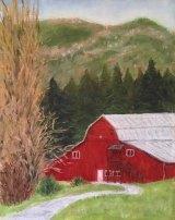 Robbie Drabek, Creekside Barn, Pastel