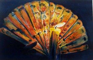 Sarah Lane, Fan and Flame, Watercolor