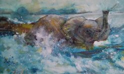 Virginia Heaven, Fun at Larrabee, Watercolor