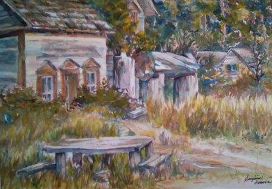 Virginia Heaven, Home of One Black Bear, Watercolor