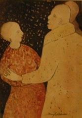 Beryl Adams, Saturday Night Dance, Watercolor, Barn exhibit