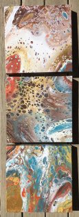 Gwen Callahan, Poured Acrylic Paintings