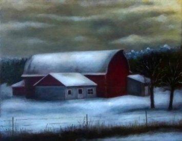 Karen McCormick, The Vanderhorn Barn, Oil