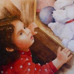 Karen Peter, Doggie in the Window, Watercolor